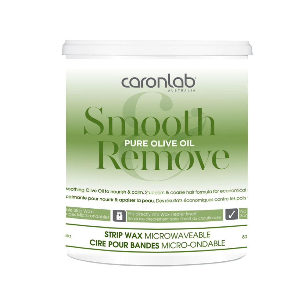 caronlab canada smooth remove pure olive oil strip wax 800g